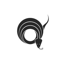 snake logo round geometric shape twisted reptile vector image