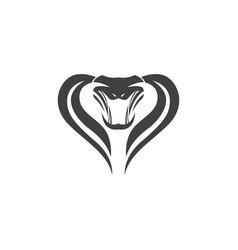 snake viper silhouette vector image