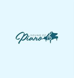 sound piano note silhouette art logo vector image