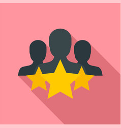 Star customer retention icon flat style vector