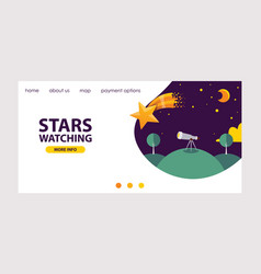 stars in different styles website design vector image