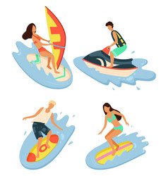 summertime vacations and rest water sports vector image