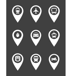 Transport pointers vector image