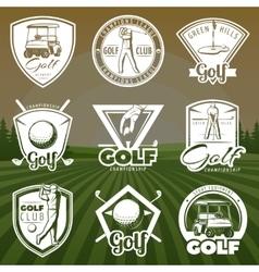 Vintage Golf Club Logos vector