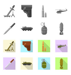 Weapon and gun icon vector