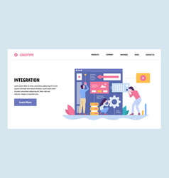 web site gradient design template software vector image