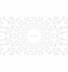 white 3d arrows vector image