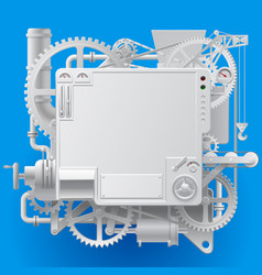 white complex fantastic machine vector image
