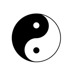 Yin yang symbol icon yinyang taoism vector