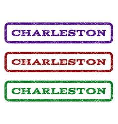 charleston watermark stamp vector image