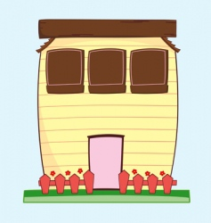 happy house vector image