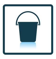 Icon of bucket vector image vector image