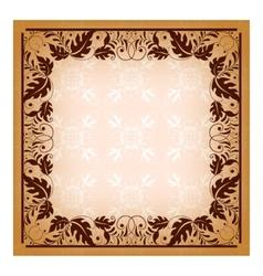 Royal invitation with elegant damask frame vector image