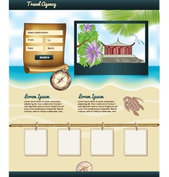 Travel Agency template vector image vector image