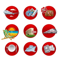 travel and resort icon set vector image