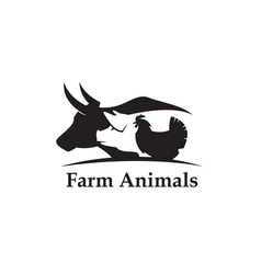 farm animals label vector image vector image