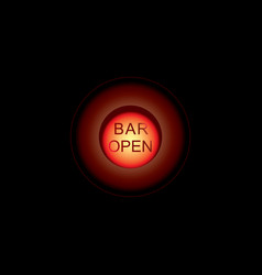 glowing bar neon signs isolated on transparent vector image