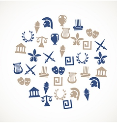 Greece symbols vector image