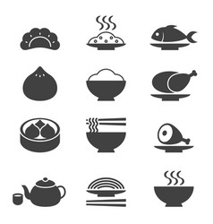 chinese cuisine vector image vector image
