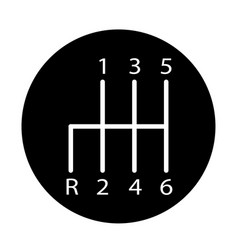 manual transmission icon on white background vector image
