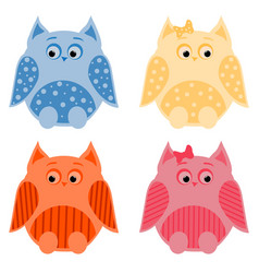 owls2 vector image vector image