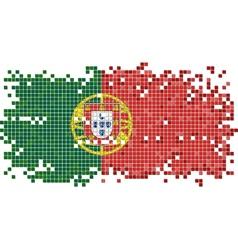 Portuguese grunge tile flag vector image vector image
