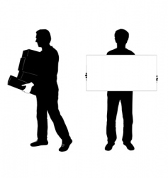 two men silhouettes vector image vector image