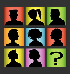 Avatars people character silhouette vector image vector image