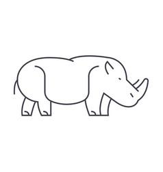hippopotamushippo line icon sign vector image