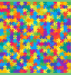 441 multicolor background jigsaw puzzle banner vector