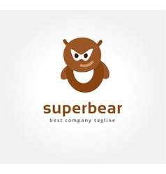 Abstract bear monster logo icon concept Logotype vector