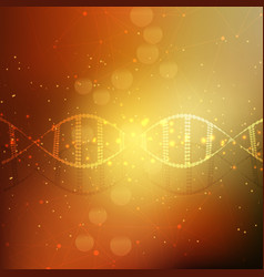 Abstract dna strands background vector