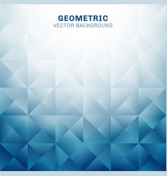 abstract geometric triangles pattern blue vector image