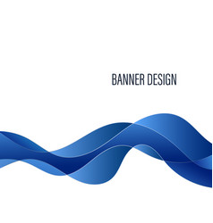 abstract waveform geometric blue background vector image