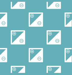 accumulator pattern seamless blue vector image