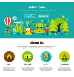 adventure web design vector image