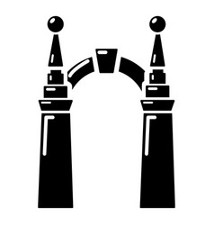 Archway elf icon simple black style vector