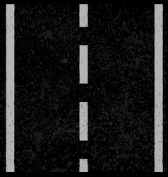 Asphalt with white lines vector