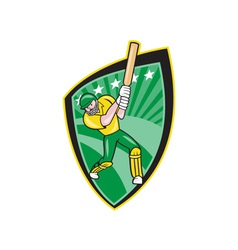 Australia Cricket Player Batsman Batting Shield vector image