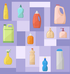bath bottles banner plastic vector image