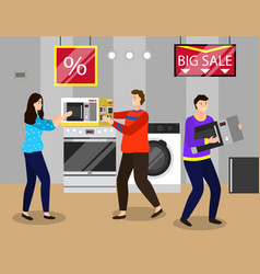 big sale clearance and discounts in electronics vector image