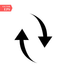 black arrows icon up and down vector image