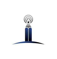 blogging center logo design template vector image