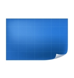 blueprint architecture paper with line vector image