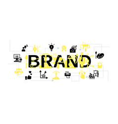 brand company concept banner simple style vector image