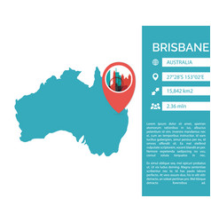 Brisbane map infographic vector
