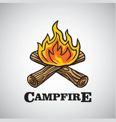 campfire logo dssign vector image