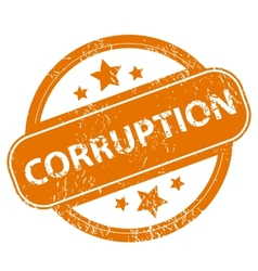 Corruption grunge icon vector image
