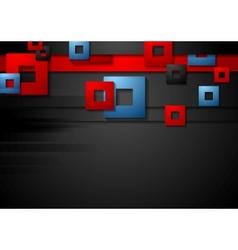 Dark corporate geometric background vector image vector image