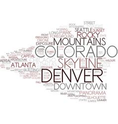 Denver word cloud concept vector